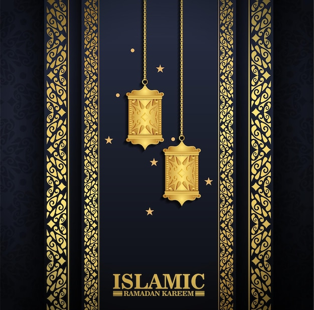 Luxe islamitische lantaarn achtergrond