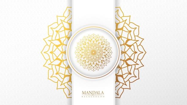 Luxe islamitische sier mandala achtergrond met arabische oost-patroonstijl