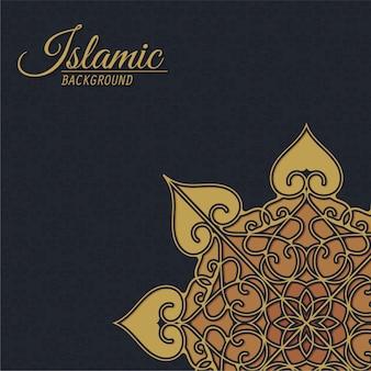 Luxe islamitische stijl decoratieve achtergrond met mandala
