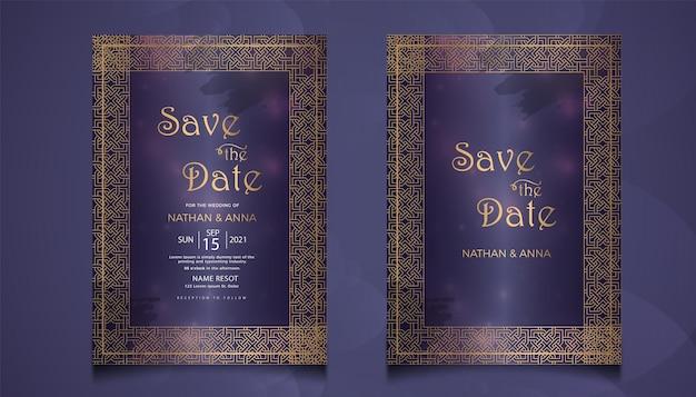 Luxe kaartenset voor huwelijksuitnodigingen