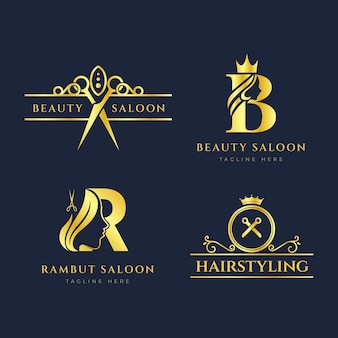 Luxe kapsalon logo-collectie