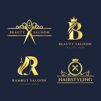 Luxe kapsalon logo-collectie