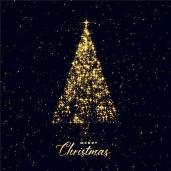 Luxe kerstboom gemaakt met sparkles