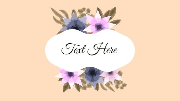 Luxe kleurrijke bloemenframes achtergrond label verkoopprijs nodigt uit!