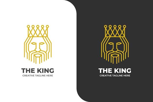 Luxe koning mascotte logo