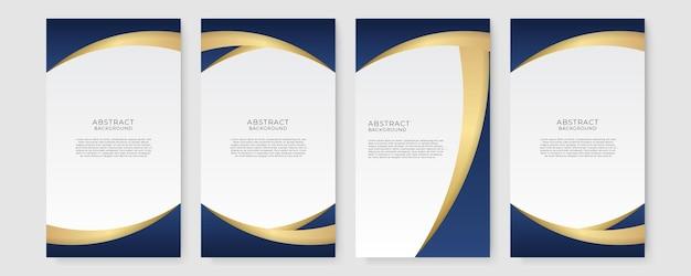 Luxe koninklijke zwarte en gouden golfvlieger, bannerontwerpsjabloon