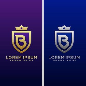 Luxe letter b concept illustratie vector ontwerpsjabloon