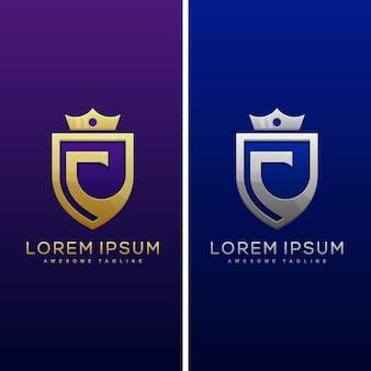 Luxe letter c concept illustratie vector sjabloon