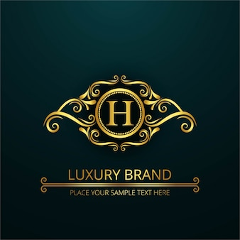 Luxe letter h logo