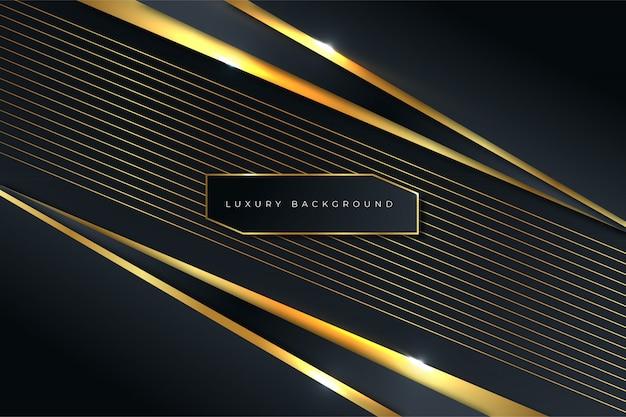 Luxe lijn gouden abstracte achtergrond
