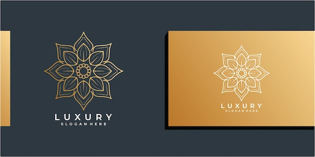 Luxe lijnkunst bloem logo ontwerp