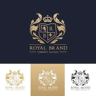 Luxe logo. crests logo. logo ontwerp voor hotel, resort, restaurant, onroerend goed, spa, mode merkidentiteit