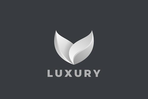 Luxe logo geïsoleerd op grijs