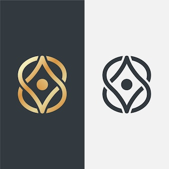 Luxe logo in verschillende versies