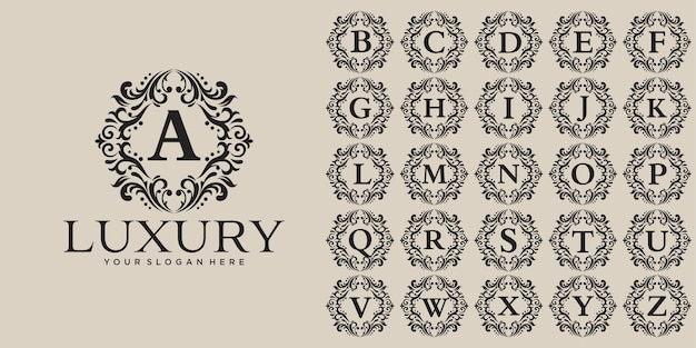 Luxe logo ontwerp, eerste brief ingesteld sjabloon