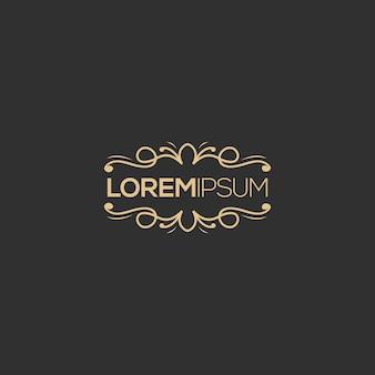 Luxe logo ontwerp, vector, illustratie klaar voor gebruik voor uw bedrijf