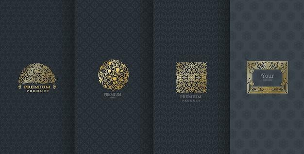 Luxe logo-ontwerp voor verpakking