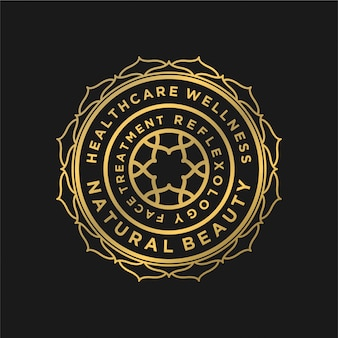 Luxe logo ontwerp voor yoga gezondheid en spa