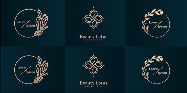 Luxe logo-ontwerpcollectie voor branding, huisstijlontwerpsjablonen.