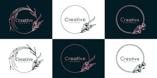 Luxe logo-ontwerpcollectie voor branding,
