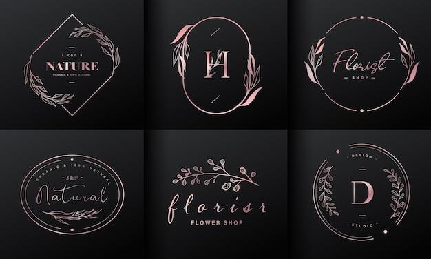 Luxe logo-ontwerpcollectie