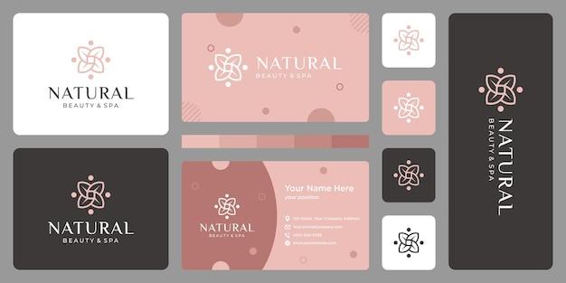 Luxe logo ontwerpconcept, bloem lotus logo, schoonheid of spa logo sjabloon