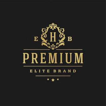 Luxe logo ontwerpsjabloon vectorillustratie.