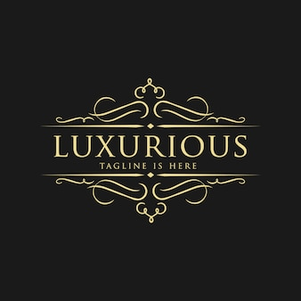 Luxe logo sjabloon in vector voor bruiloft, restaurant, royalty's, boutique, cafe, hotel, heraldiek, sieraden, mode