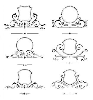 Luxe logo sjabloon. monogram identiteit voor restaurant