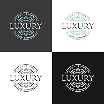 Luxe logo sjabloon vectorillustratie