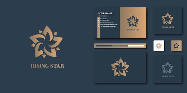 Luxe lotus-logo. luxe abstract voor logo en visitekaartjeontwerp