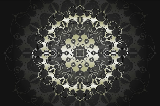 Luxe mandala achtergrond concept