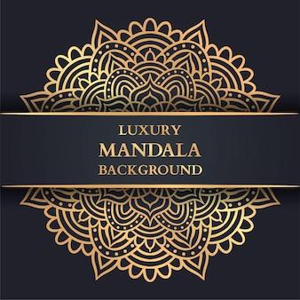 Luxe mandala-achtergrond met gouden arabesque, decoratieve mandala, luxe ornamentsjabloon