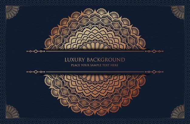 Luxe mandala achtergrond met gouden arabesque patroon arabische islamitische oost-stijl