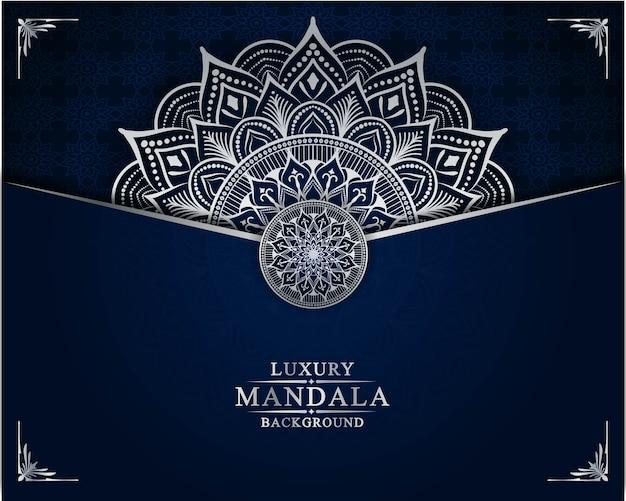 Luxe mandala achtergrond ontwerpsjabloon