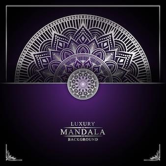 Luxe mandala achtergrond sjabloon