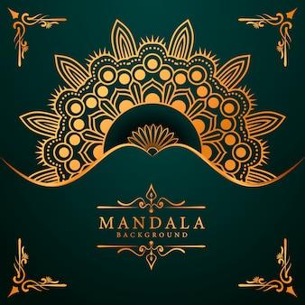 Luxe mandala achtergrond voor boekomslag bruiloft uitnodiging