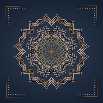 Luxe mandala achtergrond voor boekomslag, bruiloft uitnodiging.