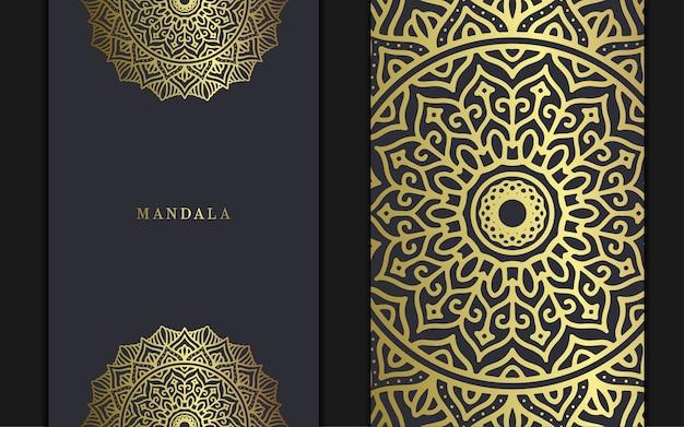 Luxe mandala achtergrond voor boekomslag