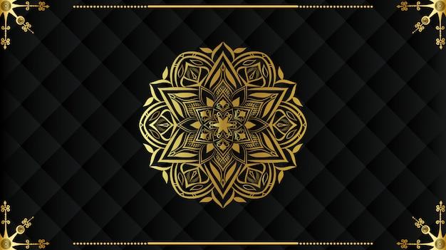 Luxe mandala achtergrondontwerp