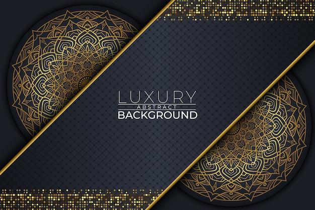 Luxe mandala achtergrondstijl