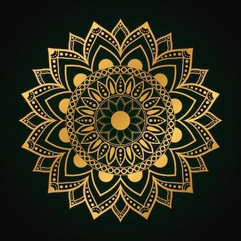 Luxe mandala arabesk achtergrond