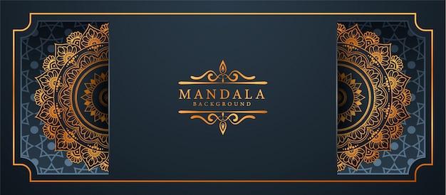 Luxe mandala arabesque banner achtergrond