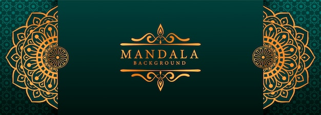 Luxe mandala arabesque webbanner stijl achtergrond
