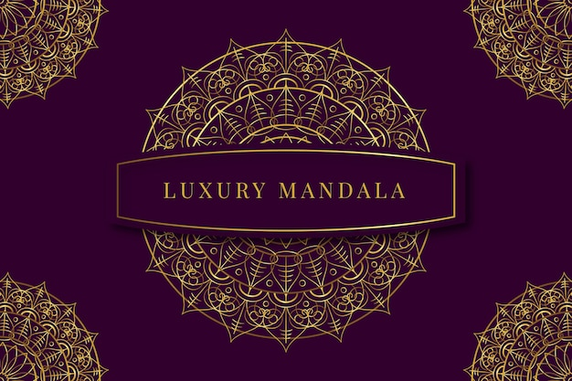 Luxe mandala behang concept
