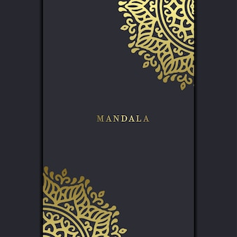 Luxe mandala cover achtergrond