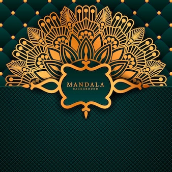 Luxe mandala decoratieve etnische element achtergrond