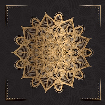 Luxe mandala in gouden kleur