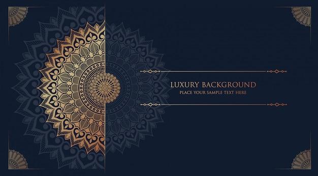 Luxe mandala islamitische achtergrond