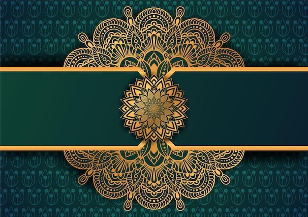 Luxe mandala-kunst met arabische sjabloon islamitische stijl